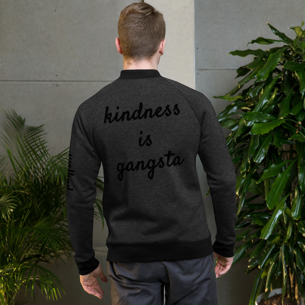 'Kindness is Gangsta' Bomber Jacket