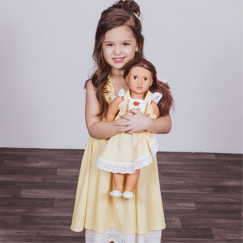Belle Inspired Doll Size Dress