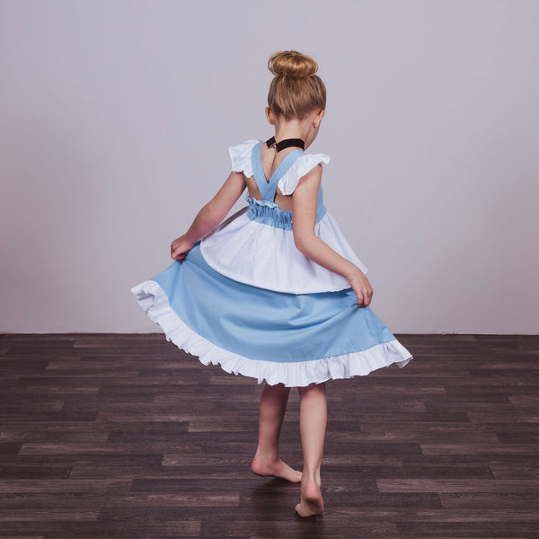 Cinderella Inspired Cotton Twirl Dress