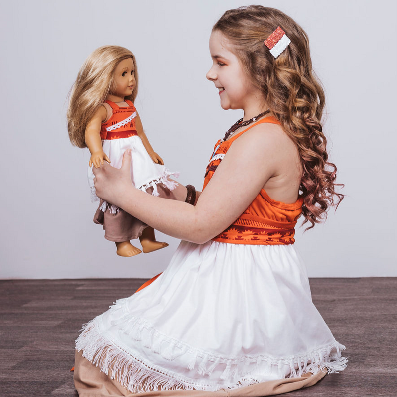 Moana Inspired Doll Size Dress