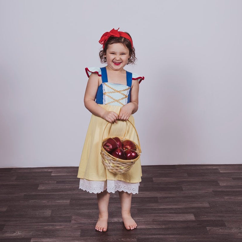 Snow White Inspired Cotton Twirl Dress