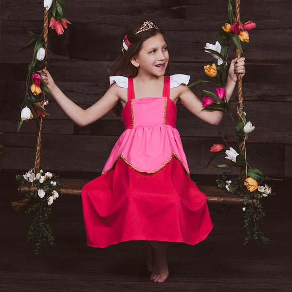 Aurora Sleeping Beauty Inspired Cotton Twirl Dress