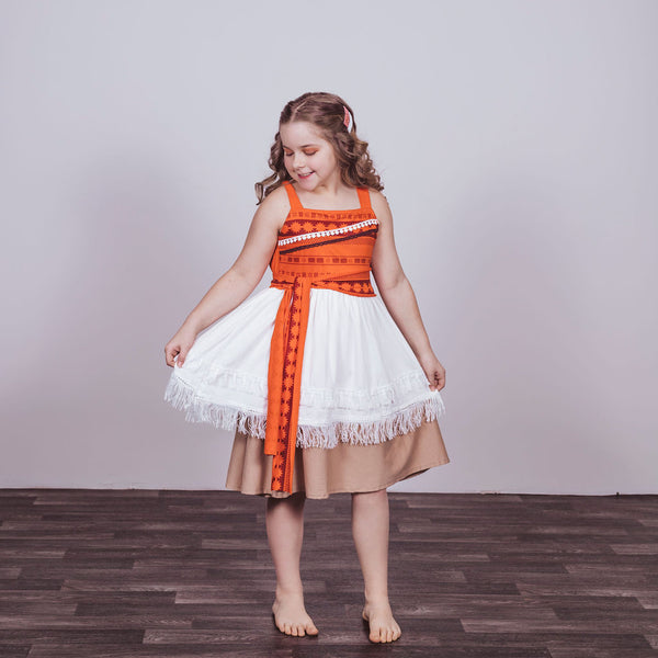 Moana Inspired Cotton Twirl Dress
