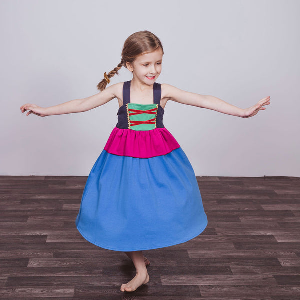 Anna Inspired Cotton Twirl Dress