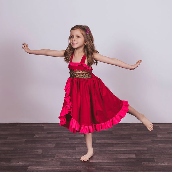 Elena Inspired Cotton Twirl Princess Dress