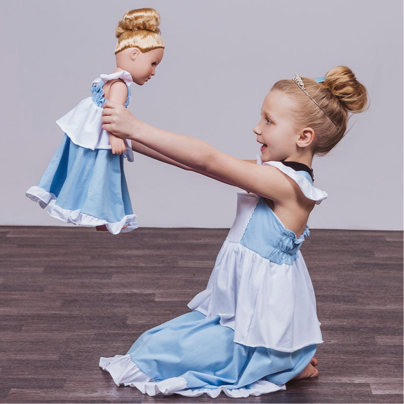 Cinderella Inspired Doll Size Dress