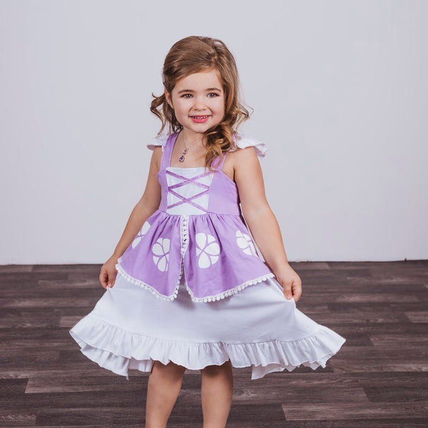 Sofia The First Inspired Cotton Twirl Dress