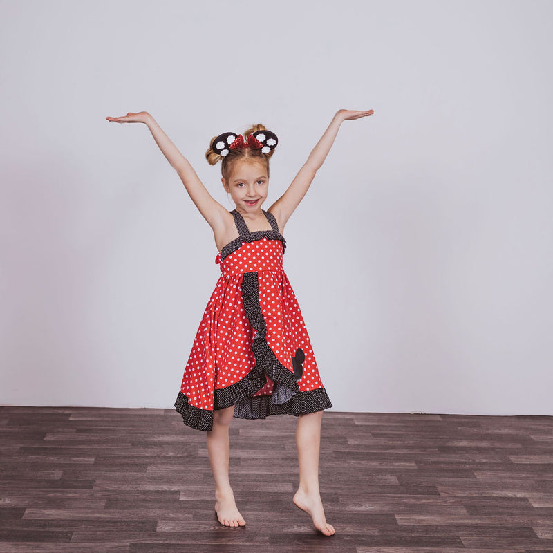 Minnie Mouse Inspired Cotton Twirl