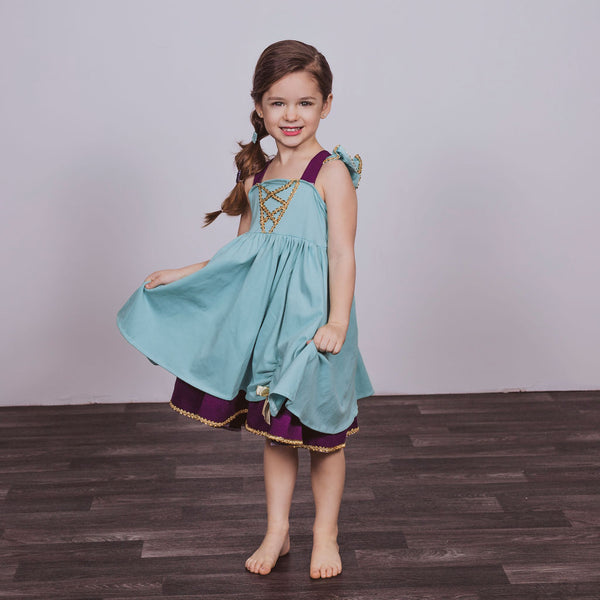 Jasmine Inspired Cotton Twirl Dress