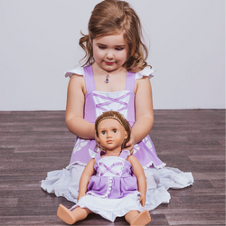 Sofia The First Inspired Doll Size Dress