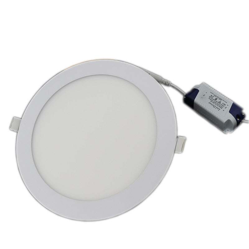 Round, Ultra Thin LED Ceiling Recessed Light Panel (Dimmable AC110-240V) in 3w, 4w, 6w, 9w, 12w, 15w, 18w, 24w.