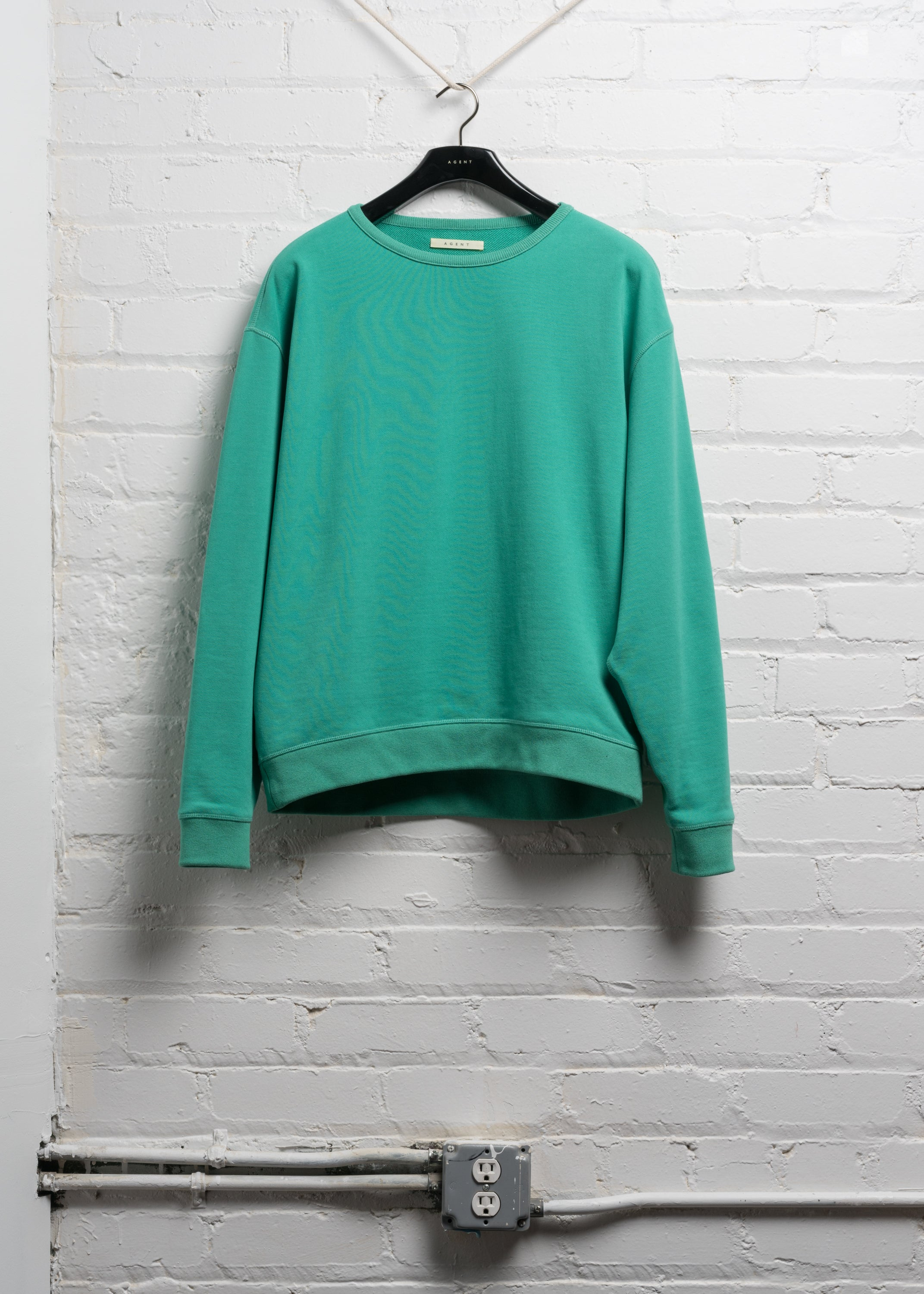 OVERSIZED CREW NECK SWEATER IN CHILI GREEN