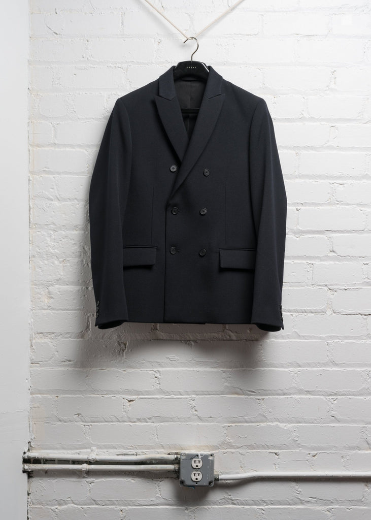 DOUBLE BREASTED WOOL JACKET IN HEAVY NAVY TWILL  (PRE ORDER)