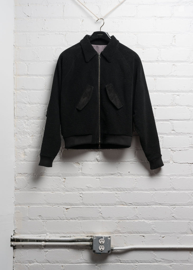 HARRINGTON JACKET IN JAPANESE BLACK  CORDUROY (PRE ORDER)