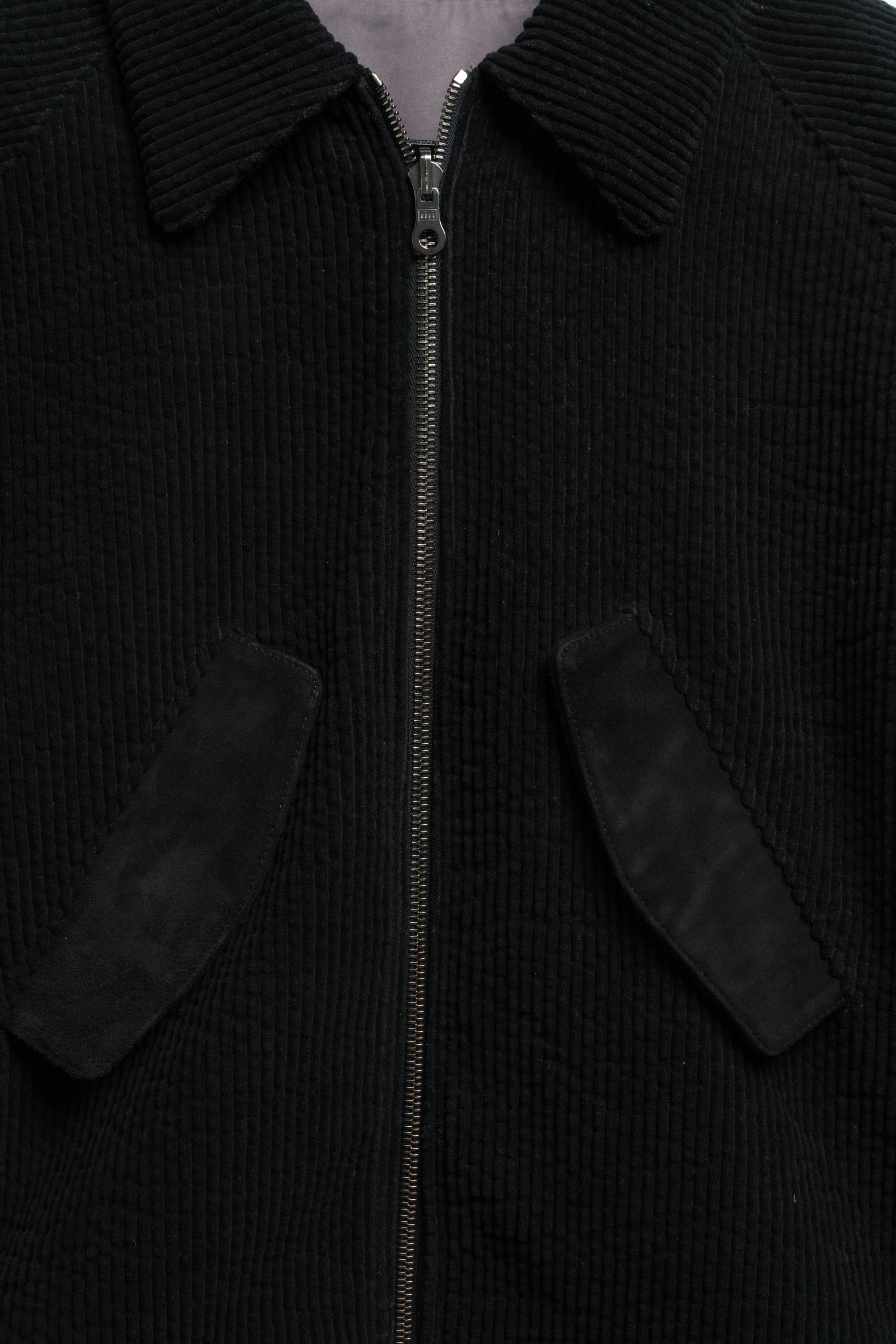 HARRINGTON JACKET IN JAPANESE BLACK  CORDUROY