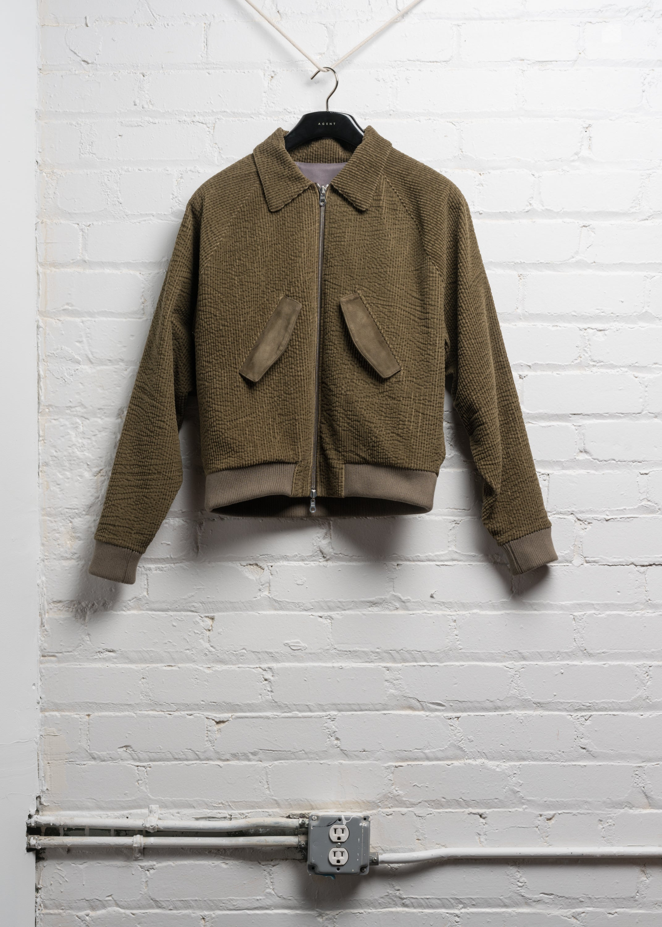 HARRINGTON JACKET IN JAPANESE KHAKI CORDUROY