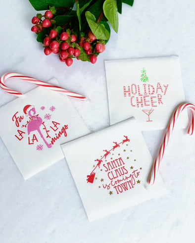 Holiday Cocktail Napkins