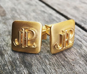 Ellis Hill 14k Gold Cuff Links with Monogram