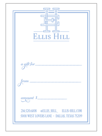 Ellis Hill Gift Card