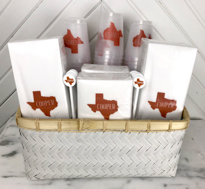 Texas Personalized Basket