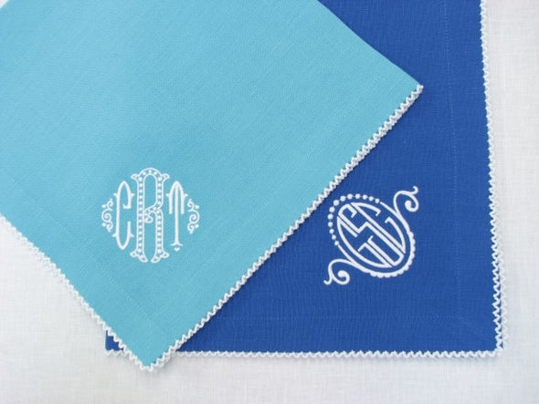 Picot Trim Dinner Napkins