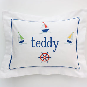 Sailboat Boudoir Pillow