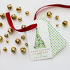 Watercolor + Foil Holiday Gift Tags