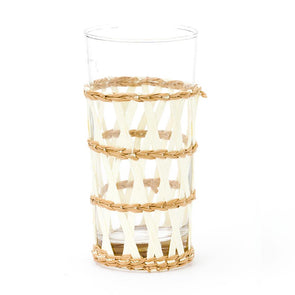Island Wrapped Ice Tea Glass, White