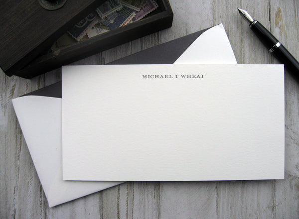 Thermography Stationery - Roman