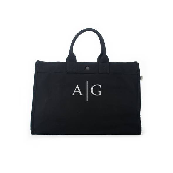 Ellis Hill East-West Tote in Canvas with Monogram
