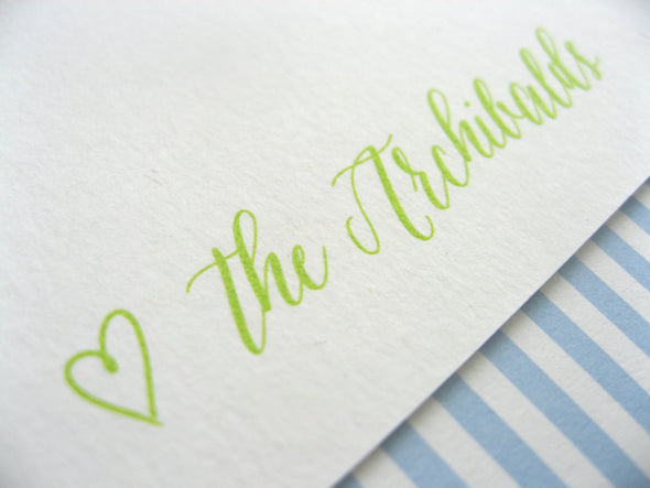 Design Your Own Thermography Stationery