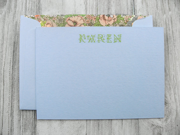 Design Your Own Engraved Stationery on Color Paper