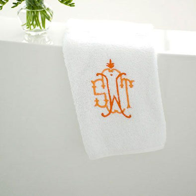 Ellis Hill Terry Bath Towels with Monogram