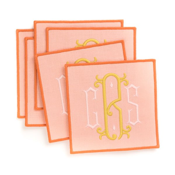 Ellis Hill Linen Cocktail Napkins - Monogram - Monogrammed - Personalized
