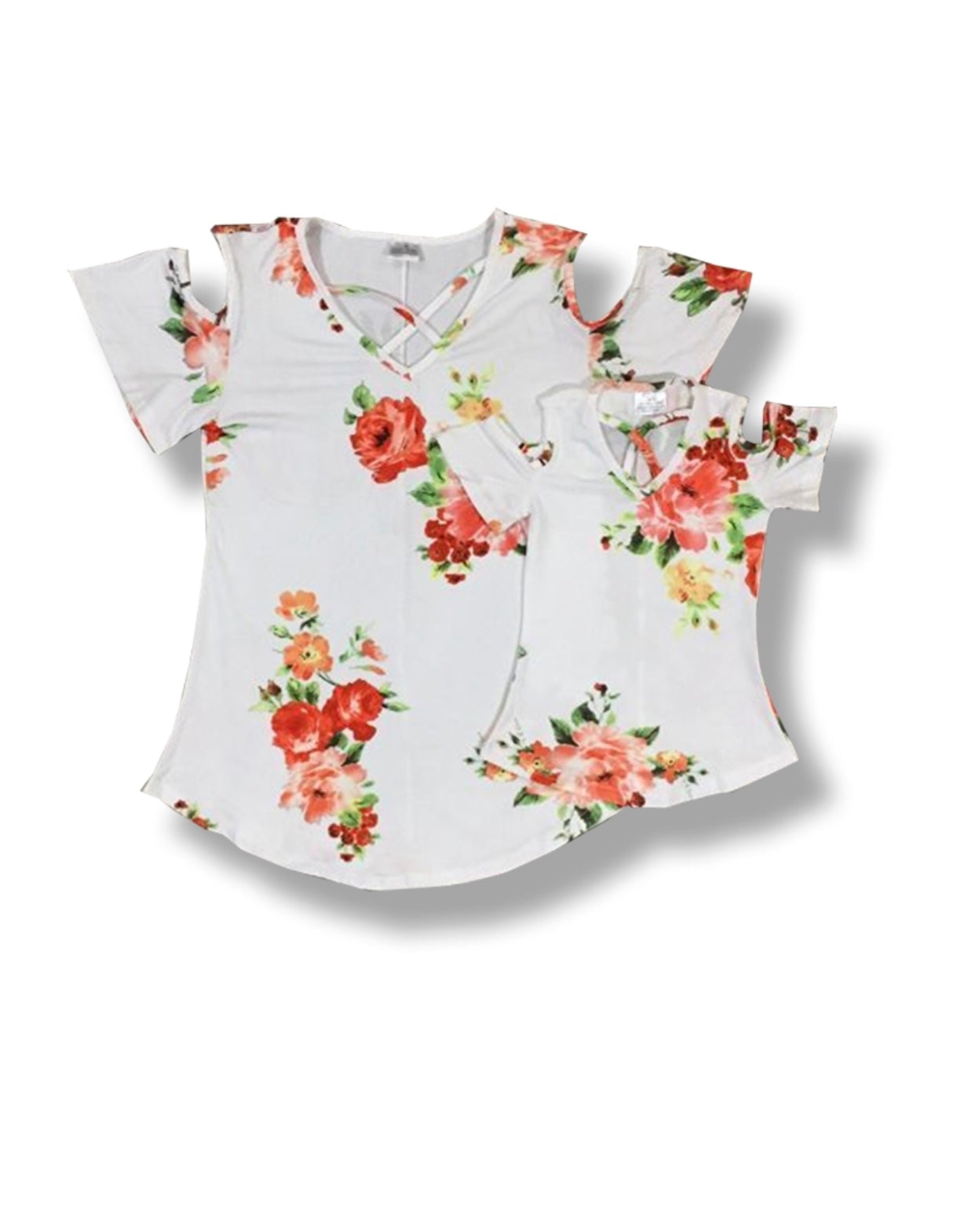 Youth White with Floral top