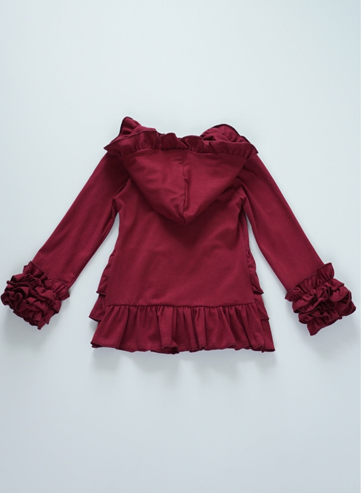 Burgundy Youth Ruffle Jacket