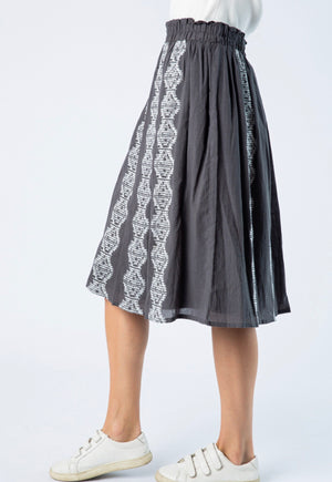 Come As You Are Charcoal Skirt