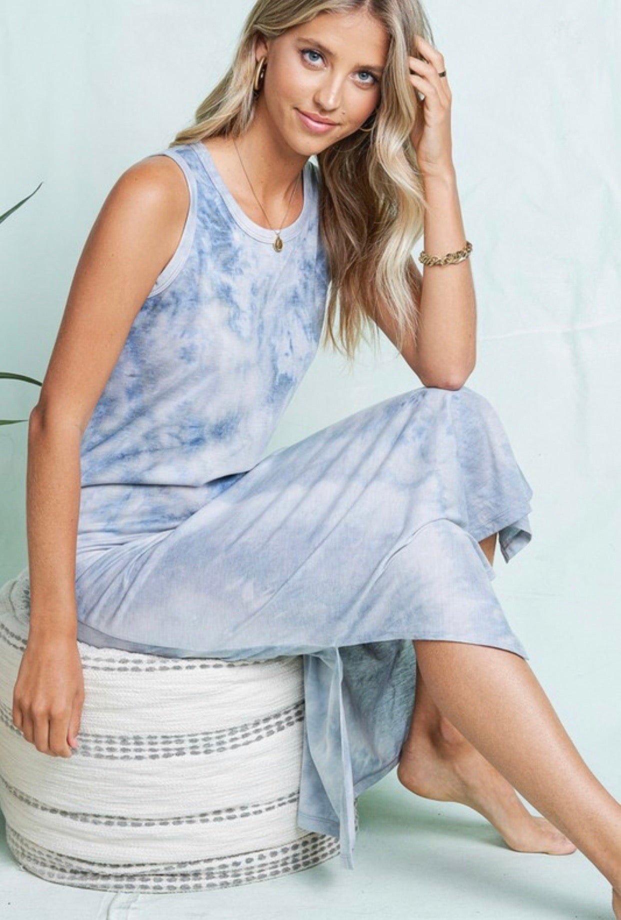 Dove Blue Tank Dress