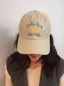 "Twill Adjustable Cap ""Lake Hair Don't Care"""