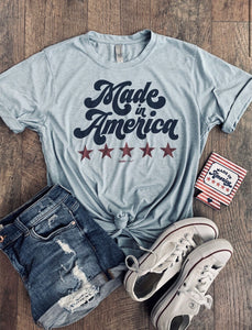 Made in America Denim Blue Soft Tee