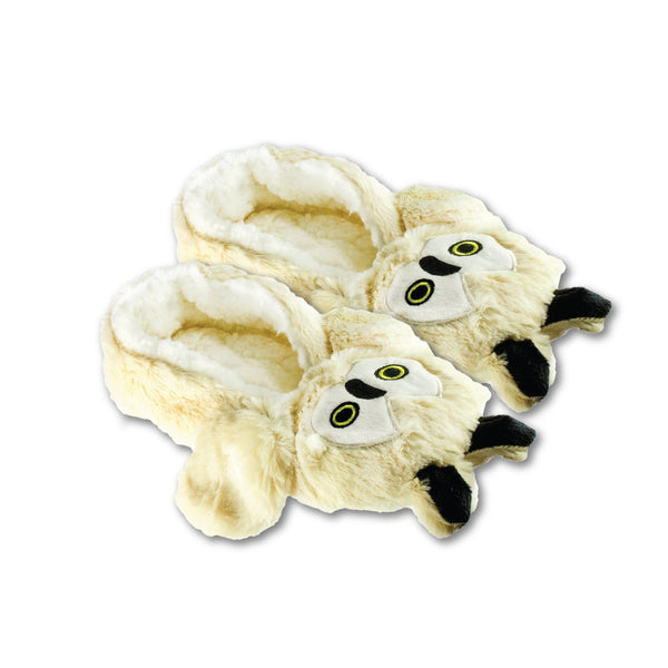 Shea Butter Fuzzy Animal Slippers W Non-Skid Bottoms Owl