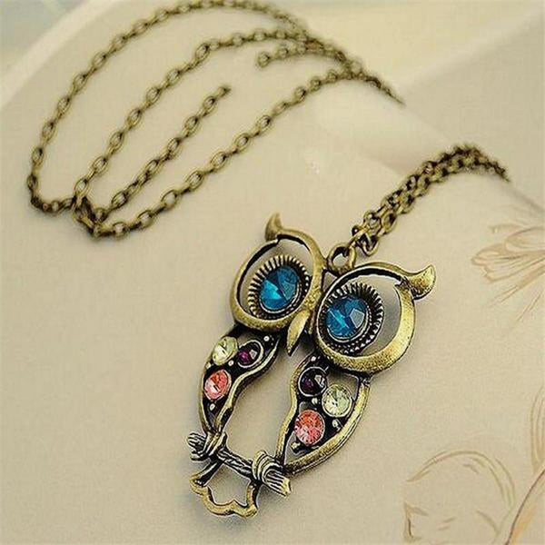 Unique Vintage Inspired Owl Necklace by Owl Junkie | Buy Now | owljunkie.com