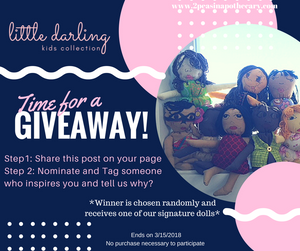 Starting the weekend right, with a GIVEAWAY from our Little Darling Collection.