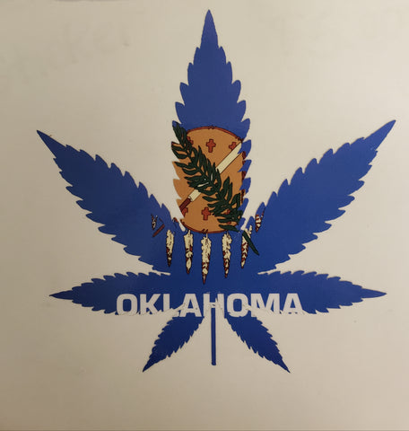 Oklahoma Marijuana Sticker