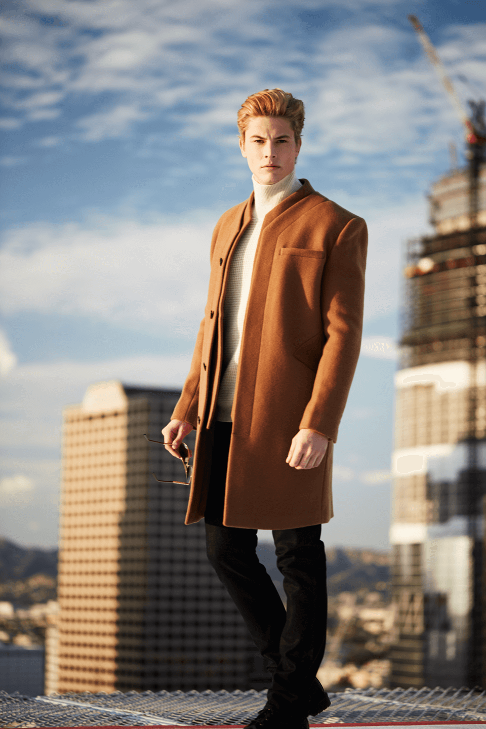 Thompson  Double Panel Felt Wool Overcoat