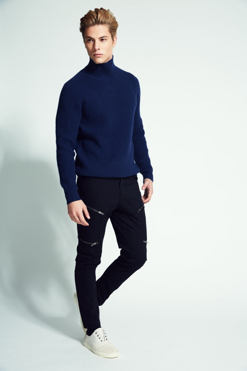 Lewis   Chunky Mock Neck Sweater