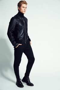 Jaxton Leather Bomber Jacket