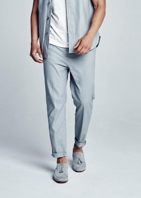 Lockwood Cropped Linen Pants