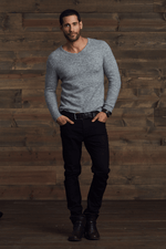 Gavin  Fuzzy V-Neck Sweater