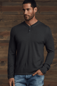 Zane  Two Button Henley